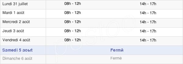 horaires d'ouverture de la Mairie De Saint-Nazaire