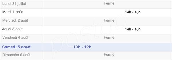 horaires d'ouverture de la Mairie De Colognac