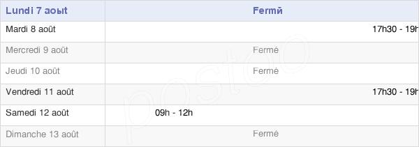 horaires d'ouverture de la Mairie De Ervauville
