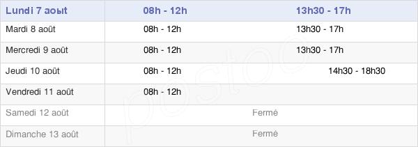 horaires d'ouverture de la Mairie De Bellegarde