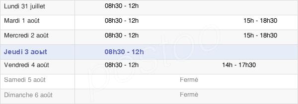 horaires d'ouverture de la Mairie De Gallargues-Le-Montueux