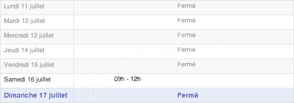 horaires d'ouverture de la Mairie De Roquemaure