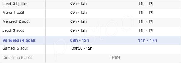horaires d'ouverture de la Mairie De Génolhac