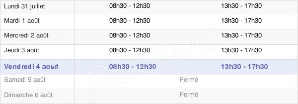 horaires d'ouverture de la Mairie D'Aubord