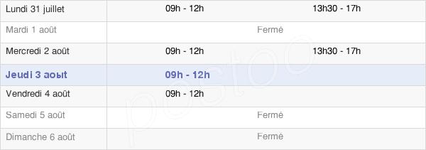 horaires d'ouverture de la Mairie De Saint-Chaptes