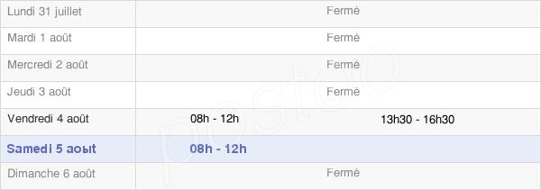 horaires d'ouverture de la Mairie De Méjannes-Lès-Alès