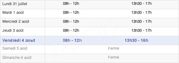 horaires d'ouverture de la Mairie De Vézénobres
