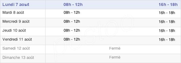 horaires d'ouverture de la Mairie De Avèze