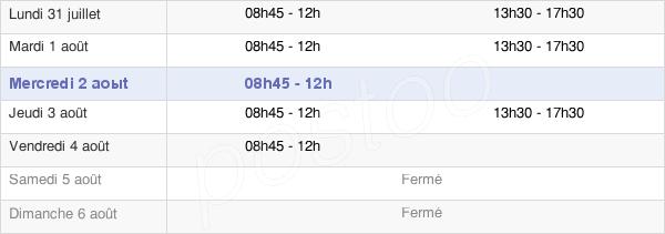 horaires d'ouverture de la Mairie De Vallabrègues