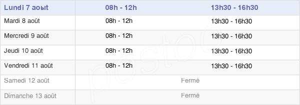 horaires d'ouverture de la Mairie De Saint-Gervasy