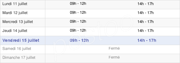 horaires d'ouverture de la Mairie De Saint-Geniès-De-Malgoirès