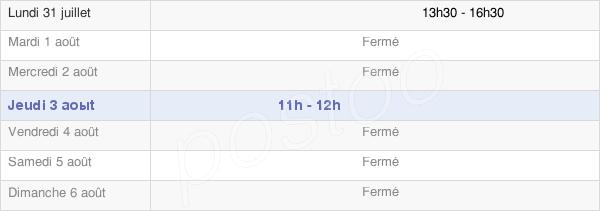 horaires d'ouverture de la Mairie De Courbette