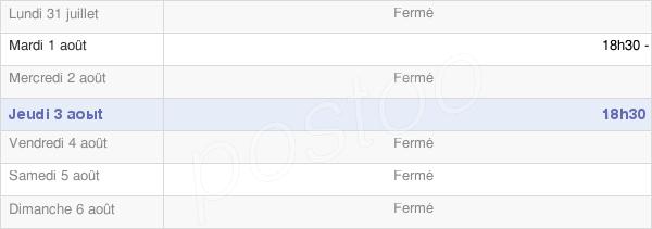 horaires d'ouverture de la Mairie De Germigney