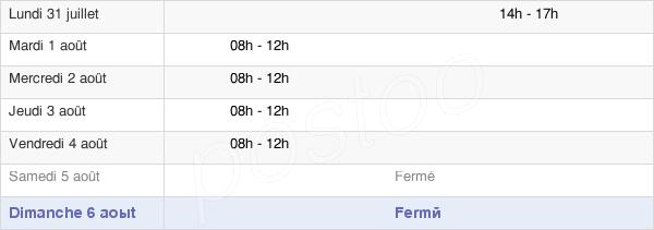 horaires d'ouverture de la Mairie De Port-Lesney