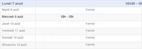 horaires d'ouverture de la Mairie De Biefmorin