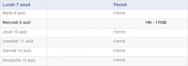 horaires d'ouverture de la Mairie De Fontenu