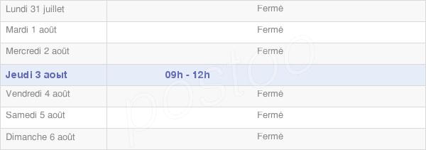 horaires d'ouverture de la Mairie De Nancuise