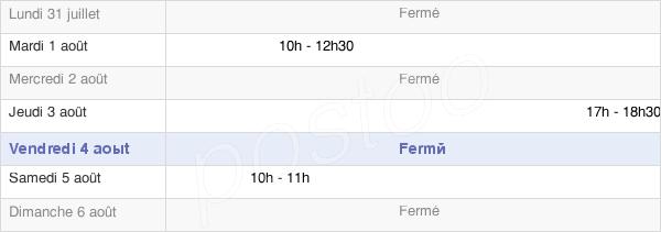 horaires d'ouverture de la Mairie De Montigny-Lès-Arsures