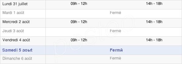 horaires d'ouverture de la Mairie De Courbouzon