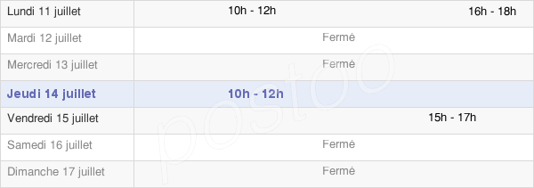 horaires d'ouverture de la Mairie De Pagney