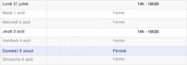 horaires d'ouverture de la Mairie De Louvenne