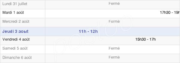horaires d'ouverture de la Mairie De Tassenières