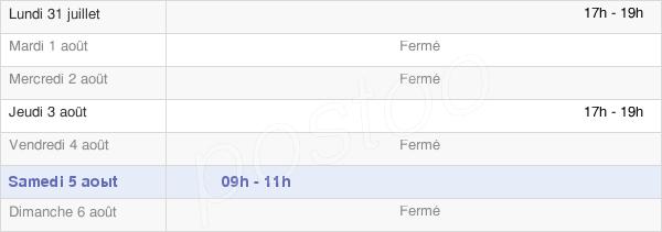 horaires d'ouverture de la Mairie De Tournoisis