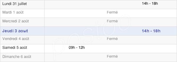 horaires d'ouverture de la Mairie De Bersaillin