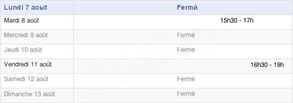 horaires d'ouverture de la Mairie De Gémigny