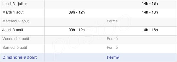 horaires d'ouverture de la Mairie De Maisod