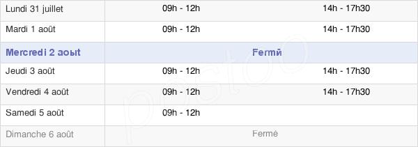 horaires d'ouverture de la Mairie De Longchaumois