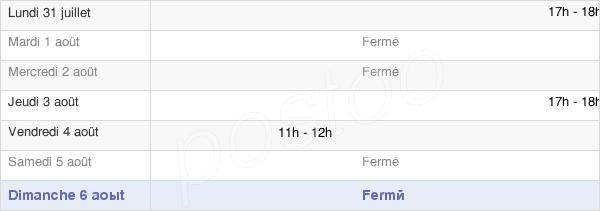 horaires d'ouverture de la Mairie De Peseux