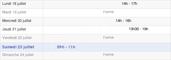 horaires d'ouverture de la Mairie D'Ascoux
