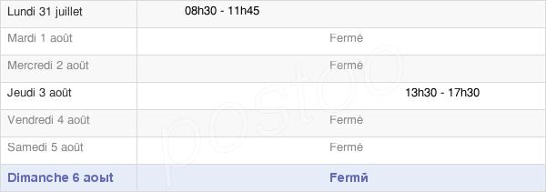 horaires d'ouverture de la Mairie De Loisia