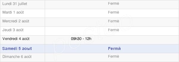 horaires d'ouverture de la Mairie De Bourcia