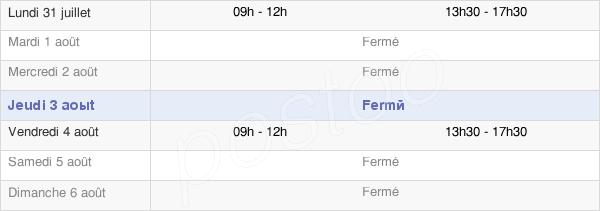 horaires d'ouverture de la Mairie De Foncine-Le-Bas