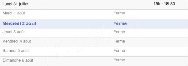 horaires d'ouverture de la Mairie De Menétru-Le-Vignoble