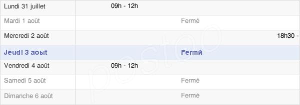 horaires d'ouverture de la Mairie D'Alièze