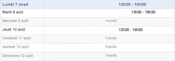 horaires d'ouverture de la Mairie De Dompierre-Sur-Mont