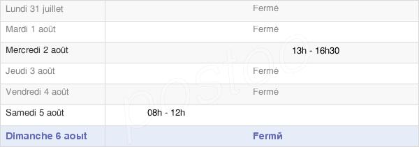horaires d'ouverture de la Mairie Des Arsures