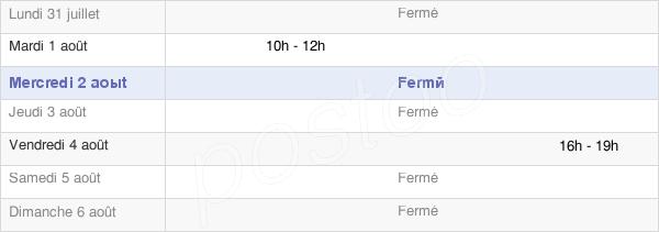 horaires d'ouverture de la Mairie De Lac-Des-Rouges-Truites