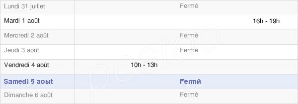 horaires d'ouverture de la Mairie De Vernantois