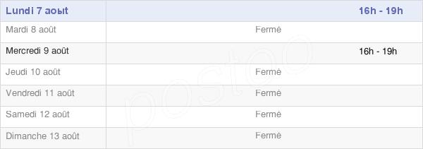 horaires d'ouverture de la Mairie De La Loye
