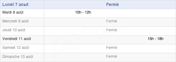 horaires d'ouverture de la Mairie De Bonnefontaine