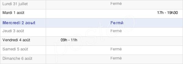 horaires d'ouverture de la Mairie D'Abergement-Le-Petit