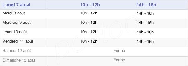 horaires d'ouverture de la Mairie D'Esserval-Combe