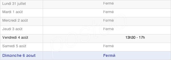 horaires d'ouverture de la Mairie Des Deux-Fays
