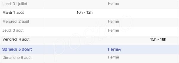 horaires d'ouverture de la Mairie De Lent