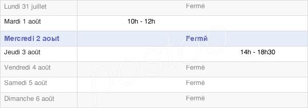 horaires d'ouverture de la Mairie De Falletans