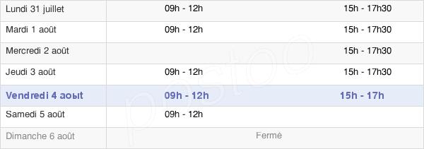 horaires d'ouverture de la Mairie De Saint-Lupicin